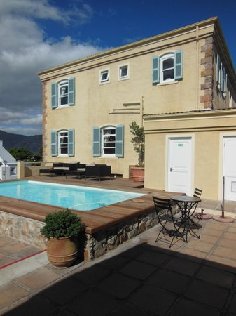 Auberge Burgundy:                   View from Poolside Room #15