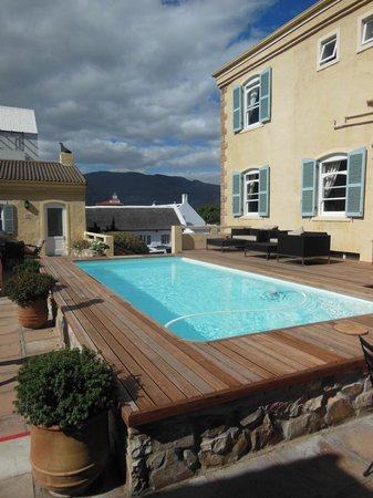 Auberge Burgundy:                   Pool located between pool villas and main building.