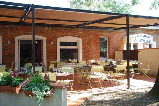Le Barry Hotel Restaurant: la terrasse du restaurant