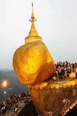 Kin Pun, Myanmar: Golden Rock Pagoda