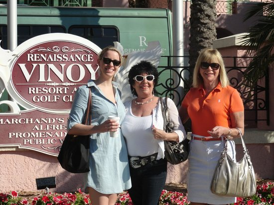 The Vinoy Renaissance St. Petersburg Resort & Golf Club:                   Me and my sister in law an neice