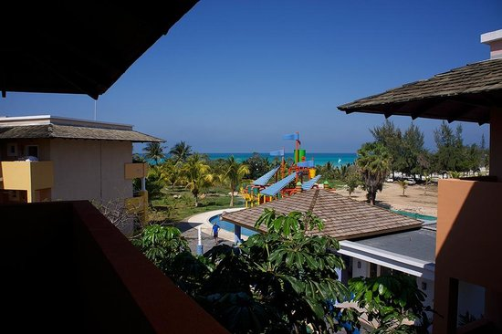 Iberostar Varadero:                   View across kids pool area to sea from outside our room.