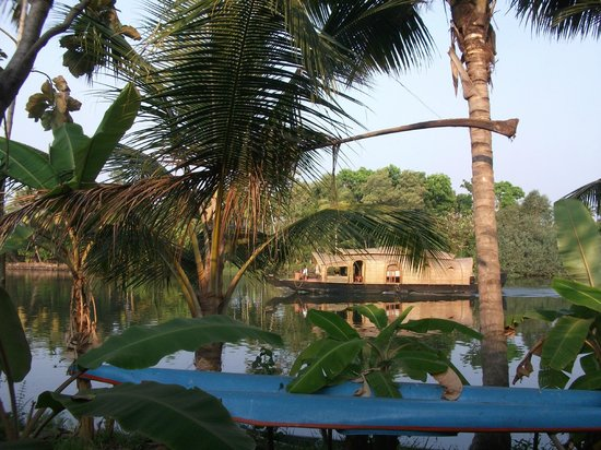 Kait's Home - Farm Life Resorts: View from the riverside cottage terrace