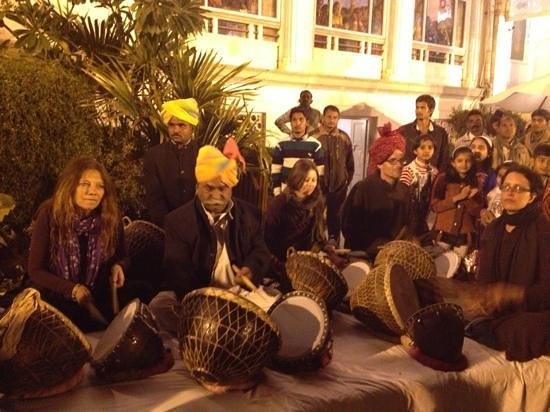 The Merwara Palace:                                     music time for guests.