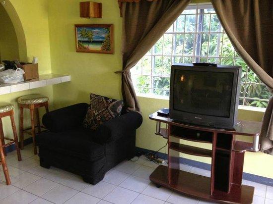 Seastar Inn:                   Big TV in living area