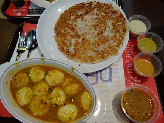 Nalan Restaurant : Set Meal 8 (Onion Uthappam, Sambar Idly)