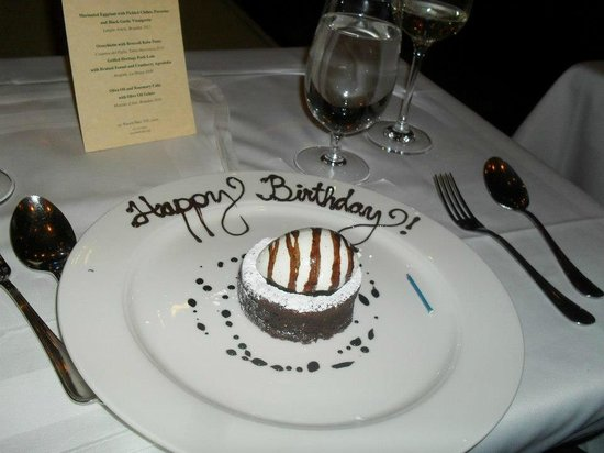 My Birthday Cake At Babbo Picture Of Babbo Ristorante E