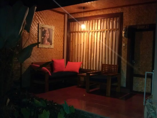 Jati Home Stay:                   External view of my room at night