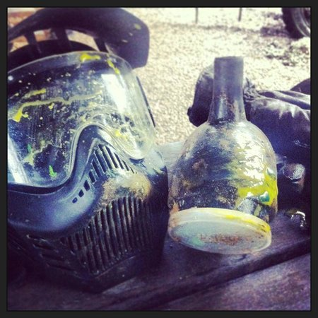 Delta Force Paintball:                   My head was a target!