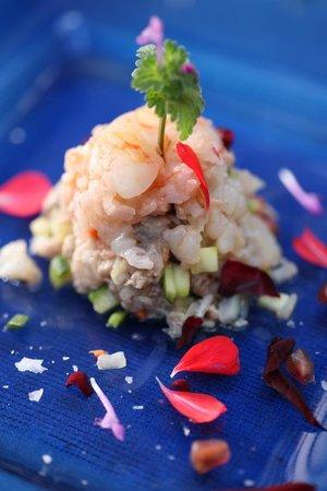 Hotel Rural Masia La Mota: Tartar de pescado