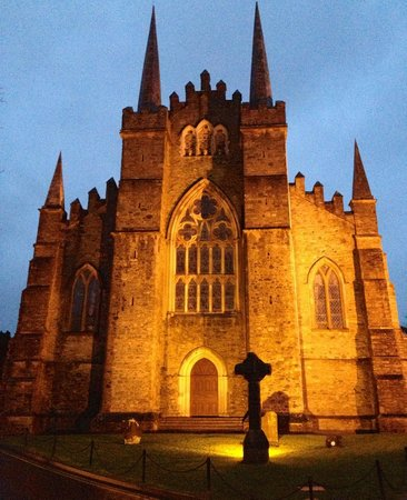 Down Cathedral:                   East face of cathedral at night.