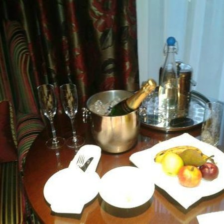 Macdonald Hotels:                   the only pic i had, champagne welcome gift for our anniversary, in the room