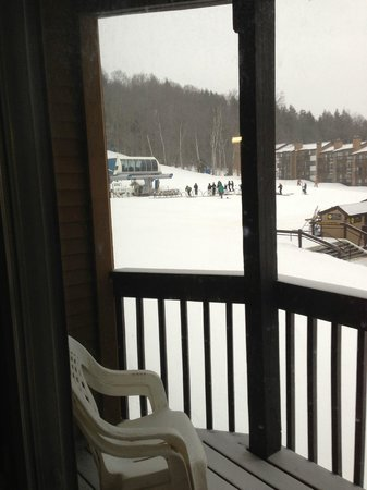 Mountain Lodge at Okemo:                   View of lifts from B205