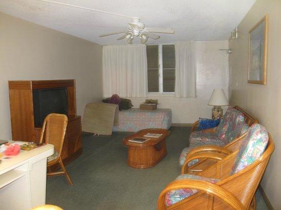 Pagoda Hotel:                   living room