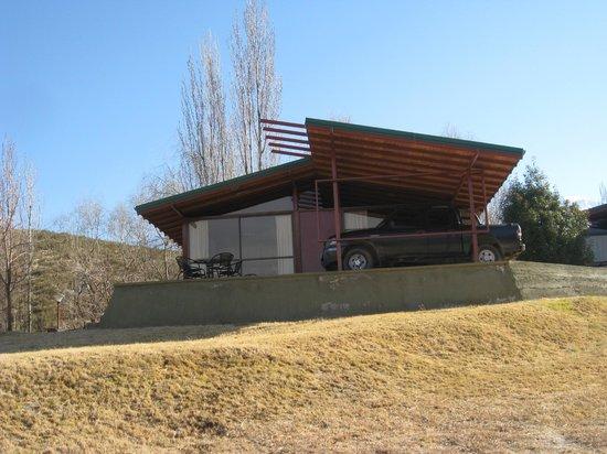 Cabanas Andinas: vista desde el parque
