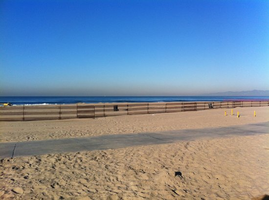 Dockweiler Beach RV Park :                   View from the rig