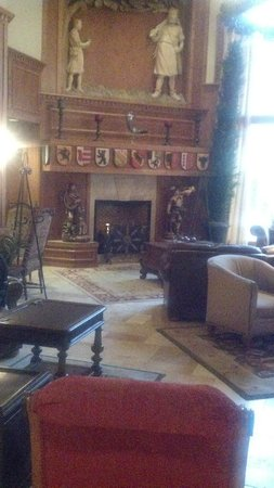 Zermatt Resort & Spa:                   Zermatt Lobby Fireplace