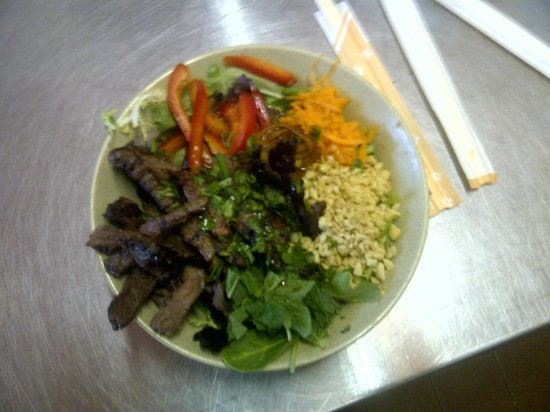 The Smokin' Buddha: The New and improved Thai Beef Salad (Veggie also available)