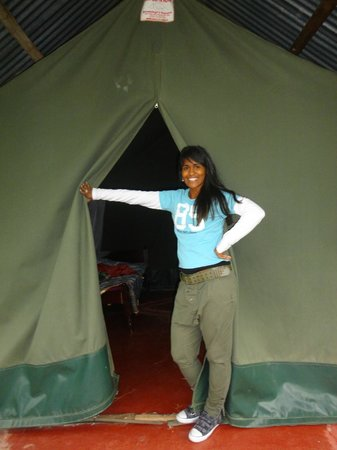Rhino Tourist Camp:                   My tent