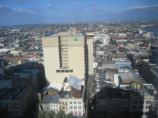 JW Marriott New Orleans: View of French Quarter looking from West to East on Canal St.