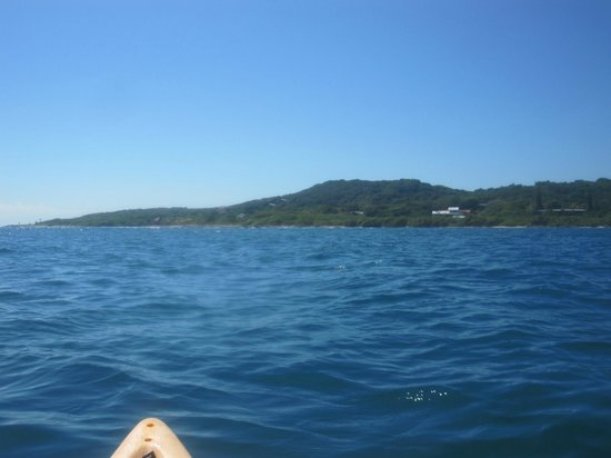 Club Natale Bay Villas:                   Heading back to Natale on the kayak after snorkeling