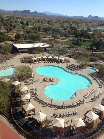 Talking Stick Resort:                   pool view