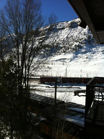 Wyndham Durango: View from balcony - Train Station