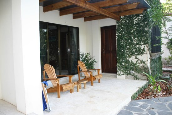 Villas Hermosas:                                     The front outside sitting area of our villas.