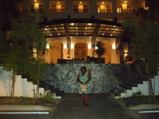 The Danna Langkawi, Malaysia:                                     front of the hotel at night