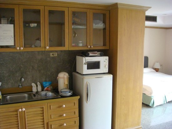 Sathorn Place:                                     Kitchenette with bed in background