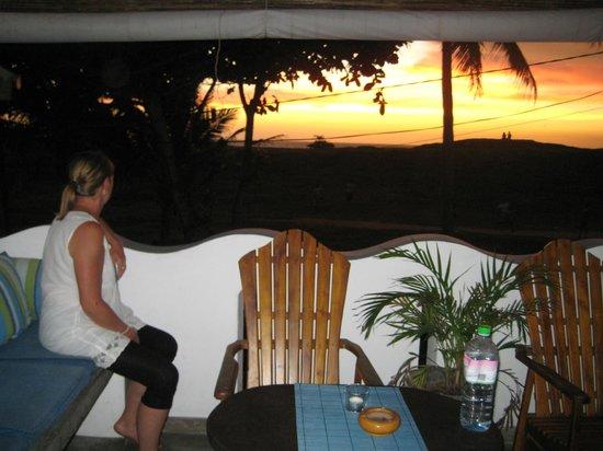 Seagreen Guesthouse:                   Relaxen beim Sonnenuntergang