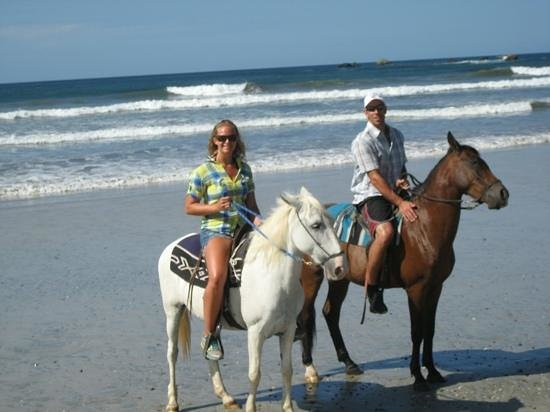 Playa Ponies:                                     mid way through our 2 hour tour
