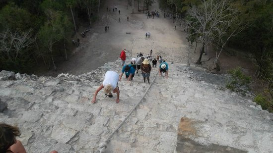 Grand Sirenis Riviera Maya Resort & Spa:                   PYRAMID CLIMB