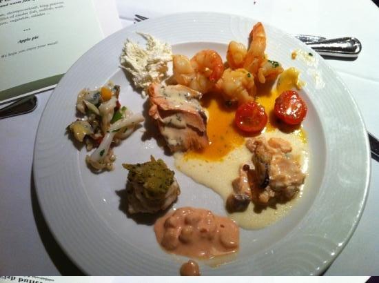 Landhotel Tirolerhof:                   more awesome fish, fish stew, king prawns, prawn cocktail, salmon, another i c