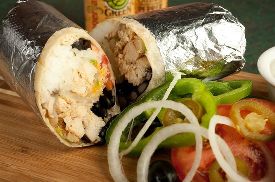 Pepperjax Grill: GIANT Wrap with Chicken