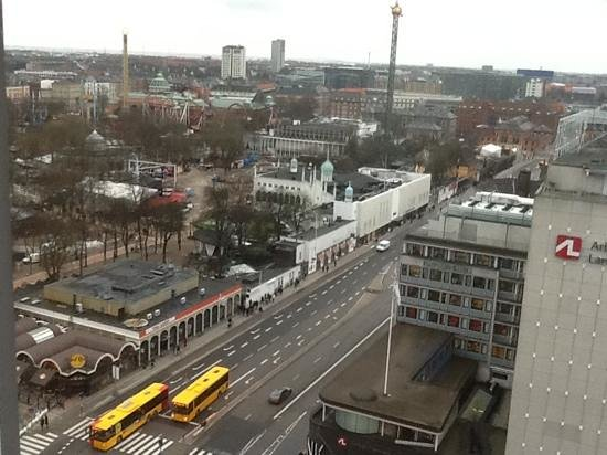 Radisson Blu Royal Hotel Copenhagen:                   and Tivoli Gardens to the left