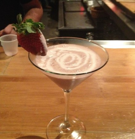 Raspberry Drizzle Martini
