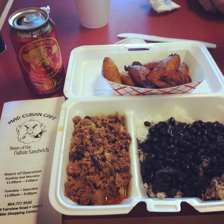 Mad Cuban Cafe:                   Picadillo dish