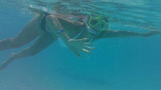 Snorckel en la playa Sirena...una pileta