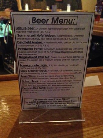 Delafield Brew Haus: Beer List