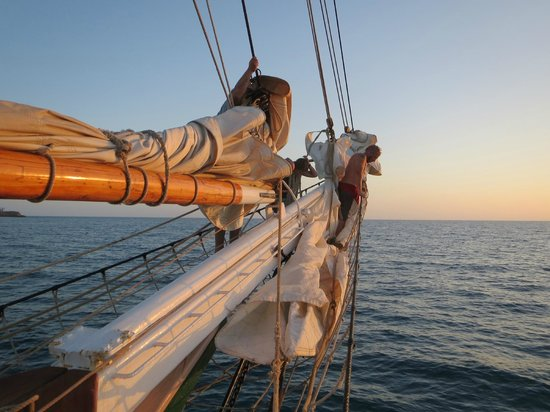Liberty Fleet of Tall Ships:                   Sunset