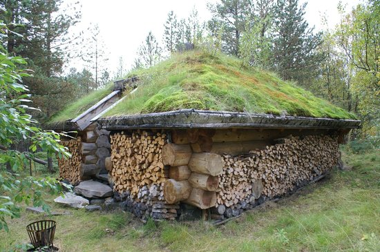 Engholm Husky Design Lodge Karasjok:                   One of the small houses. 100% from wood.