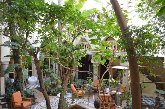 Riad Malika:                   patio centrale