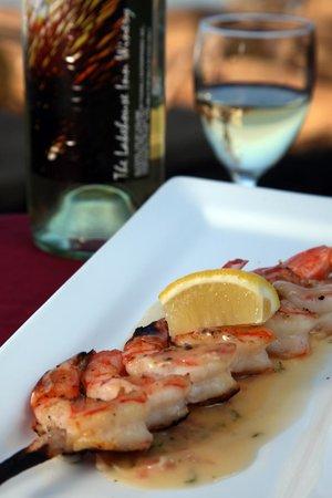 Crosswinds Grille: Grilled Shrimp Appetizer