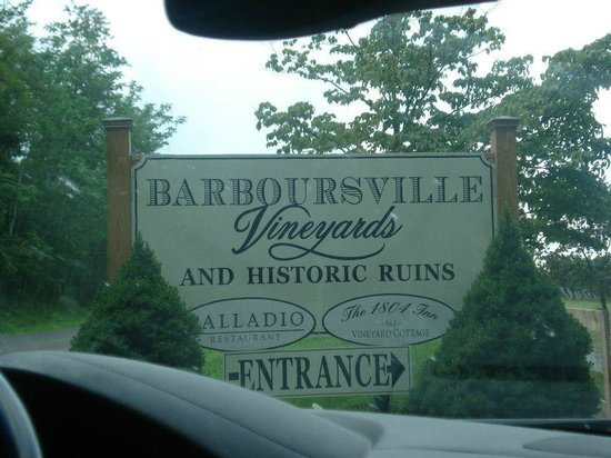 Barboursville Vineyards and Historic Ruins:                   entrance sign
