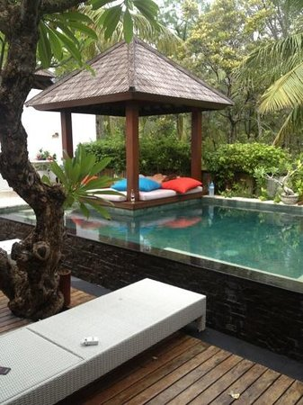 The Trawangan Resort:                   Private pool at our villa.