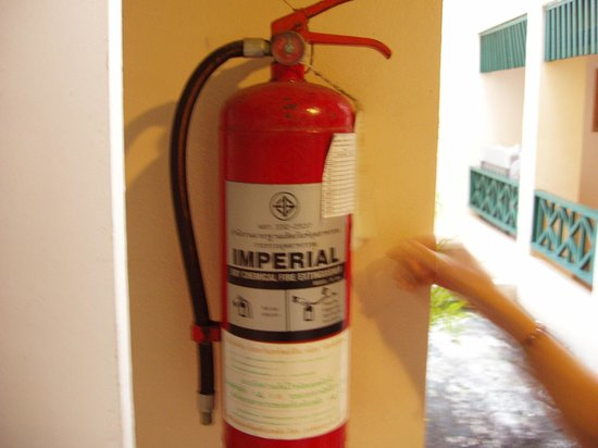 Chaba Cabana Beach Resort:                   fire extinguisher outdated
