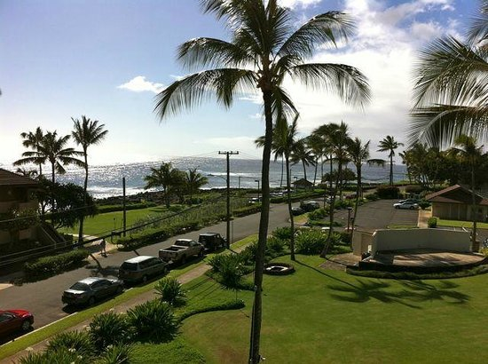 Sheraton Kauai Resort:                   View from our lanai