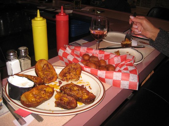 Meister's Bar & Grill:                   just check out the Potato skins and the Corn Dogs delicious!
