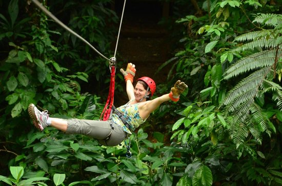 Canopy Safari:                   Last Zip lining on our tour